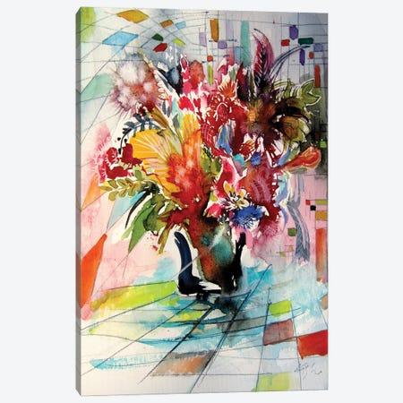Colorful Life With Flowers VI Canvas Print #AKV264} by Anna Brigitta Kovacs Canvas Print