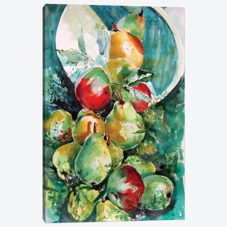 Fruits In The Grass Canvas Print #AKV269} by Anna Brigitta Kovacs Canvas Wall Art