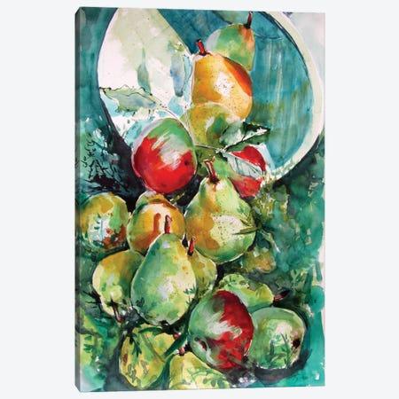 Fruits In The Grass Canvas Print #AKV269} by Anna Brigitta Kovacs Canvas Wall Art