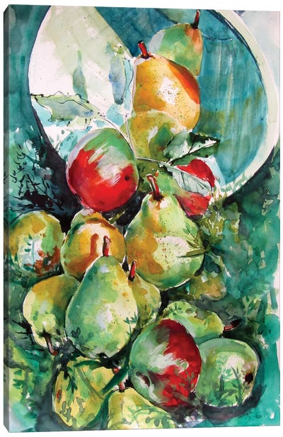Fruits In The Grass Canvas Art Print
