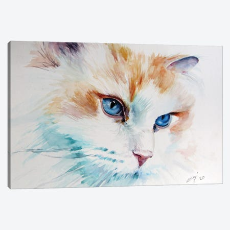 Cat Portrait I Canvas Print #AKV270} by Anna Brigitta Kovacs Art Print