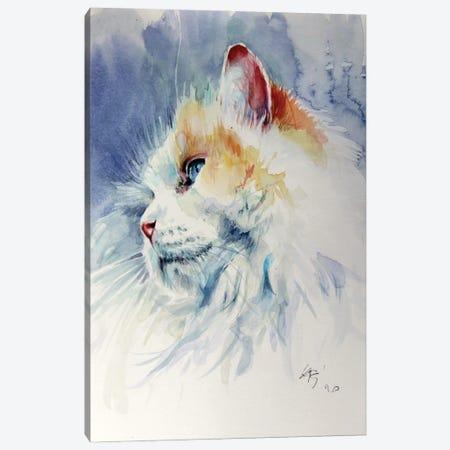 Cat Portrait II Canvas Print #AKV271} by Anna Brigitta Kovacs Canvas Art Print