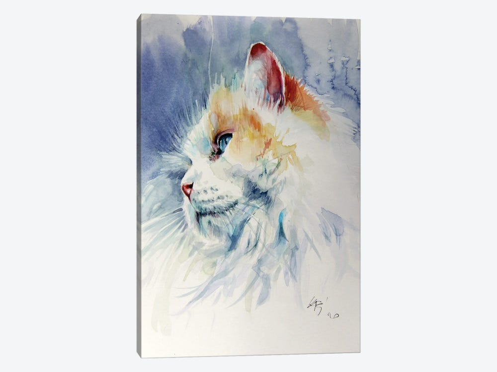 Cat Portrait II by Anna Brigitta Kovacs 1-piece Art Print
