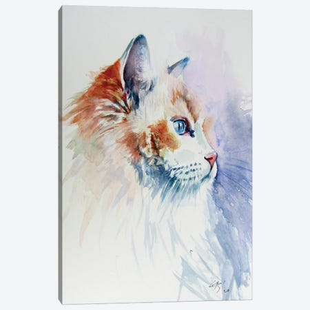 Cat Portrait III Canvas Print #AKV274} by Anna Brigitta Kovacs Canvas Art