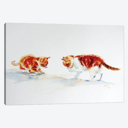 Cute Kittens Canvas Print #AKV277} by Anna Brigitta Kovacs Canvas Artwork