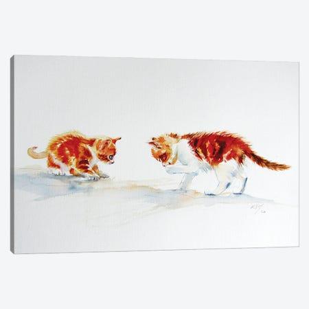 Cute Kittens Canvas Print #AKV277} by Anna Brigitta Kovacs Canvas Artwork