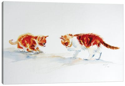 Cute Kittens Canvas Art Print
