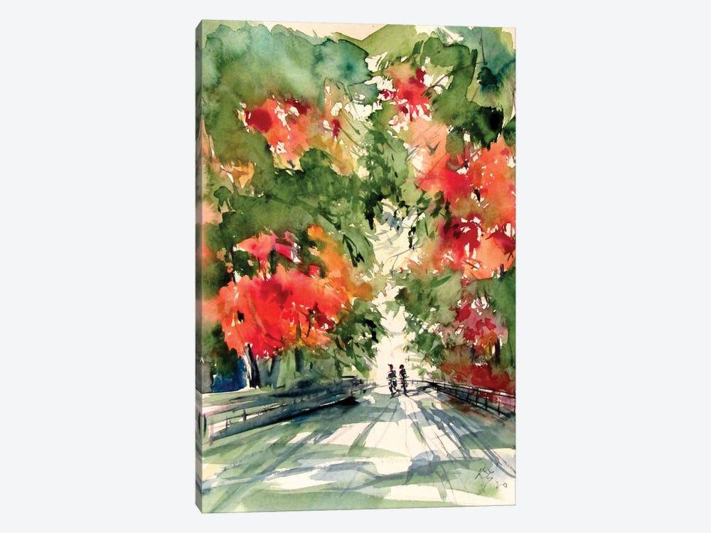 In The Park In The Fall by Anna Brigitta Kovacs 1-piece Canvas Art Print