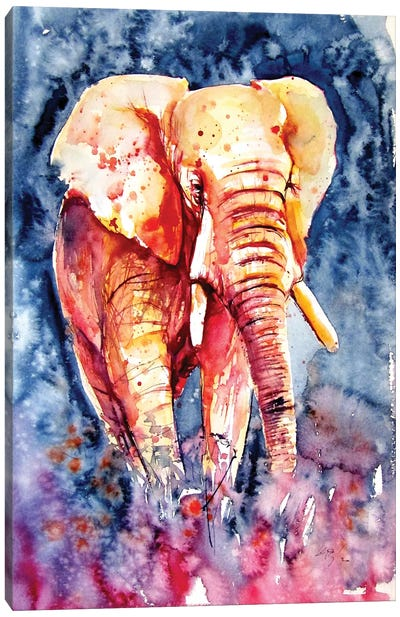 Majestic Elephant Alone II Canvas Art Print