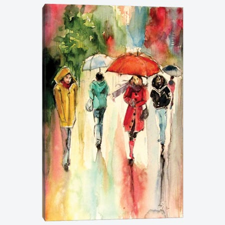 Sleepy Rainy Day Canvas Print #AKV283} by Anna Brigitta Kovacs Canvas Art
