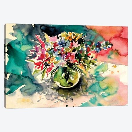 Still Life With Wildflowers From The Field Canvas Print #AKV285} by Anna Brigitta Kovacs Art Print