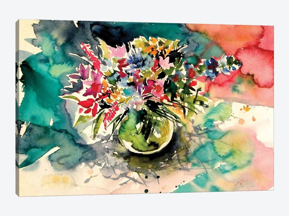 Still Life With Wildflowers From The Field by Anna Brigitta Kovacs 1-piece Canvas Artwork