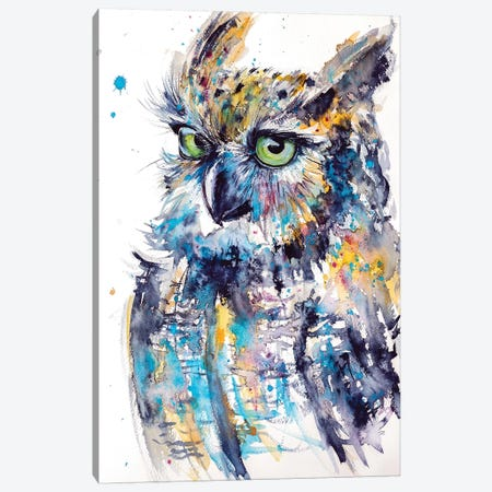 Cute Owl Canvas Print #AKV28} by Anna Brigitta Kovacs Canvas Art