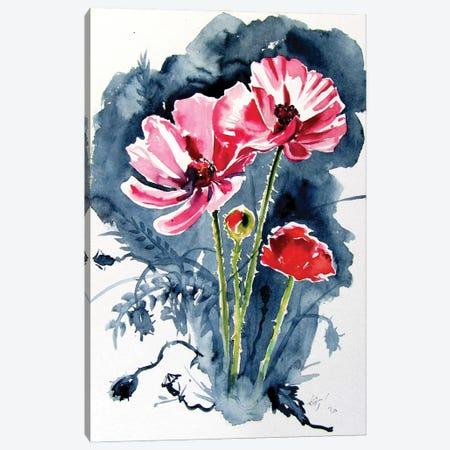 Some Poppy Flowers Canvas Print #AKV291} by Anna Brigitta Kovacs Canvas Print