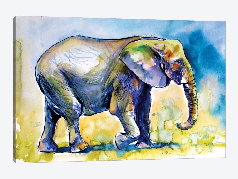 Majestic Elephant Alone III by Anna Brigitta Kovacs 1-piece Canvas Wall Art