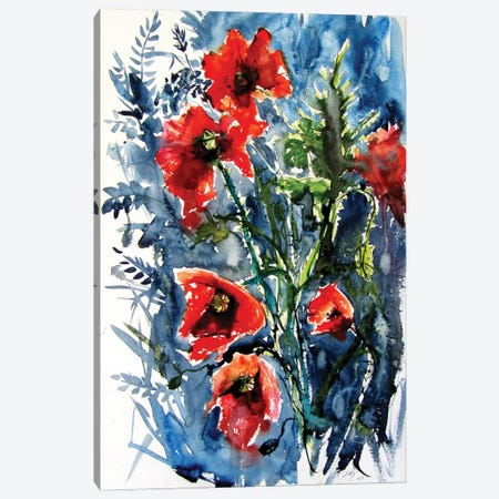Wild Poppies Canvas Print #AKV293} by Anna Brigitta Kovacs Canvas Print