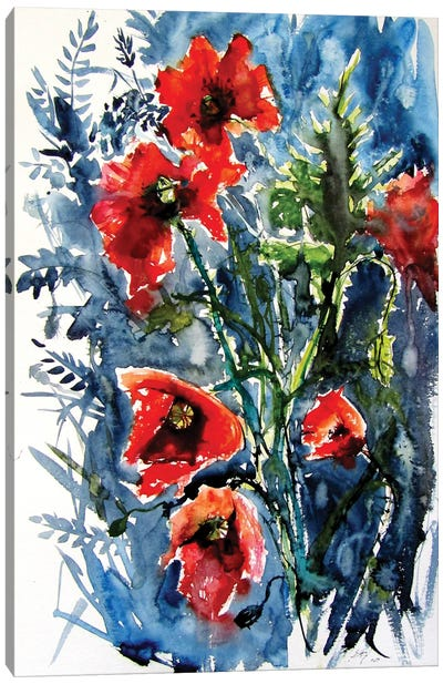 Wild Poppies Canvas Art Print