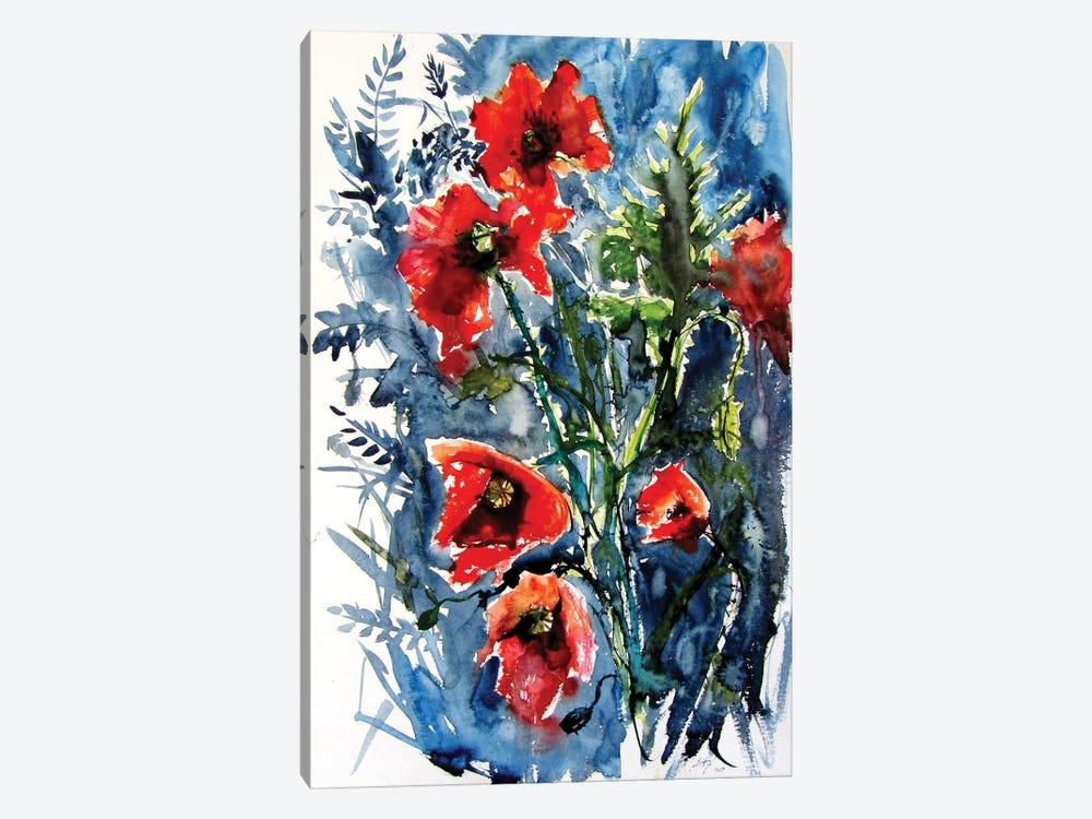 Wild Poppies by Anna Brigitta Kovacs 1-piece Canvas Art Print