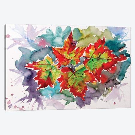Autumn Leaves Canvas Print #AKV294} by Anna Brigitta Kovacs Canvas Artwork