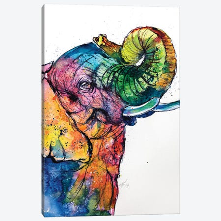 Elephant Love Canvas Print #AKV30} by Anna Brigitta Kovacs Canvas Print