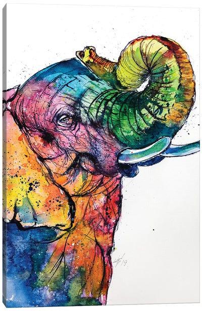 Elephant Love Canvas Art Print