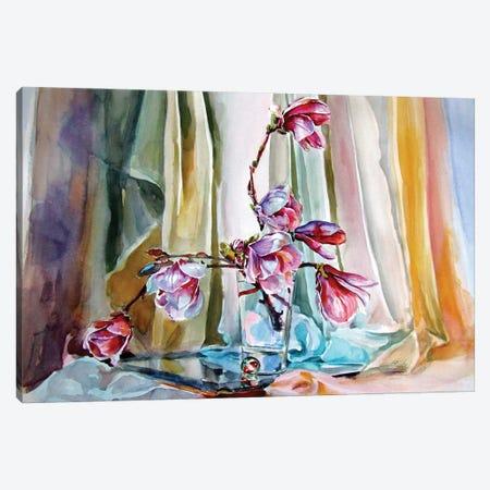 Still Life With Magnolia Canvas Print #AKV321} by Anna Brigitta Kovacs Canvas Print