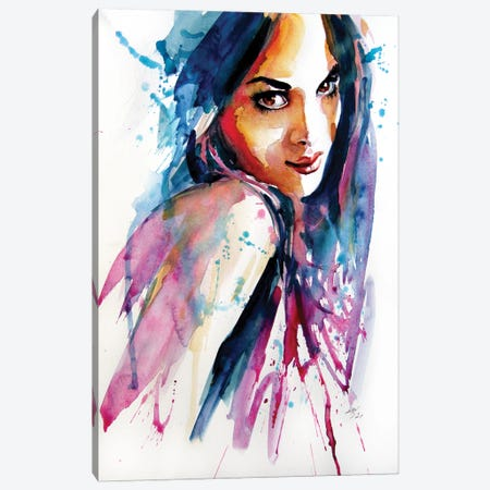 Portrait Of Beauty II Canvas Print #AKV338} by Anna Brigitta Kovacs Canvas Wall Art