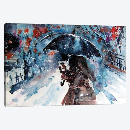 Wintertime With Coffee Canvas Print #AKV342} by Anna Brigitta Kovacs Canvas Art Print