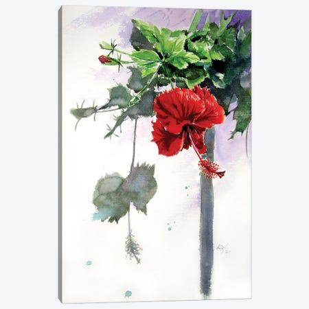 Hibiscus Canvas Print #AKV347} by Anna Brigitta Kovacs Canvas Artwork