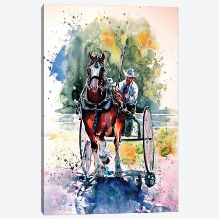 Horse Race Canvas Print #AKV360} by Anna Brigitta Kovacs Canvas Print
