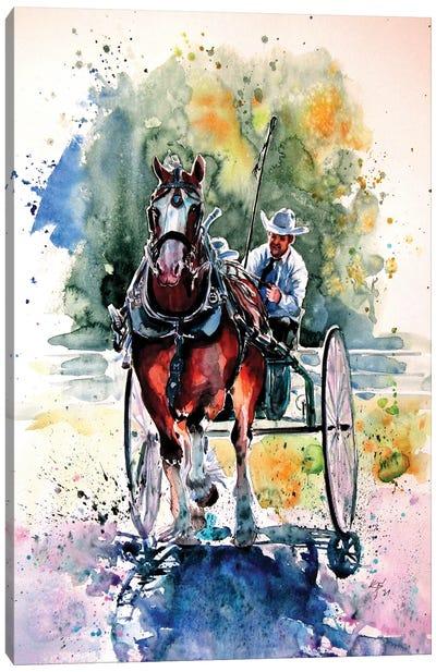 Horse Race Canvas Art Print