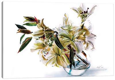 Bouquet Of Lily Casa Blanca Canvas Art Print