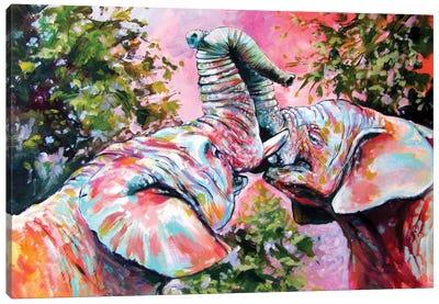 Happy Elephant III Canvas Art Print