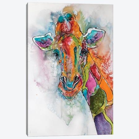 Giraffe Canvas Print #AKV38} by Anna Brigitta Kovacs Art Print
