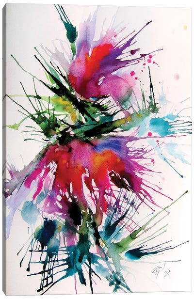 Crazy Flower Canvas Art Print