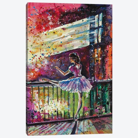 Ballerina Dancing Canvas Print #AKV3} by Anna Brigitta Kovacs Canvas Wall Art