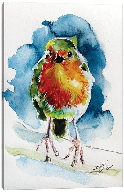 Nice Robin Canvas Art Print