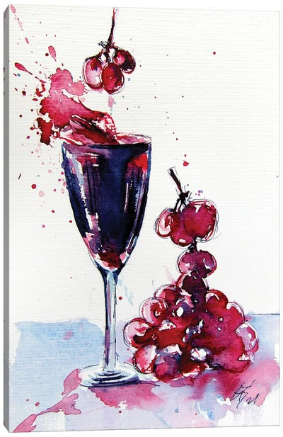 Wine And Grapes Canvas Art Print