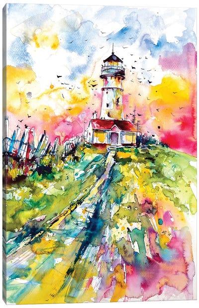 Lighthouse With Birds Canvas Art Print
