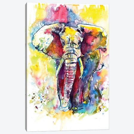 Mejestic Elephant Canvas Print #AKV53} by Anna Brigitta Kovacs Canvas Art Print
