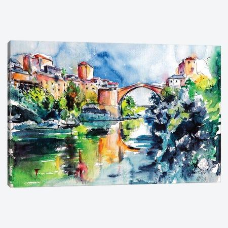 Mostar Bridge Canvas Print #AKV57} by Anna Brigitta Kovacs Canvas Art