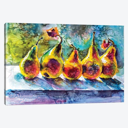 Pears Canvas Print #AKV62} by Anna Brigitta Kovacs Canvas Art