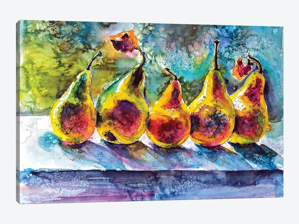 Pears by Anna Brigitta Kovacs 1-piece Canvas Wall Art