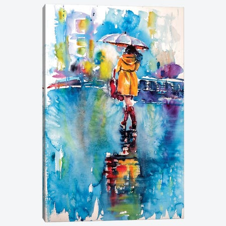 Rainy Days Canvas Print #AKV74} by Anna Brigitta Kovacs Canvas Art