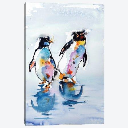 Rockhopper Penguins Canvas Print #AKV76} by Anna Brigitta Kovacs Canvas Art