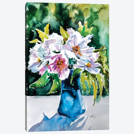 Still Life With Flowers Canvas Print #AKV82} by Anna Brigitta Kovacs Canvas Artwork