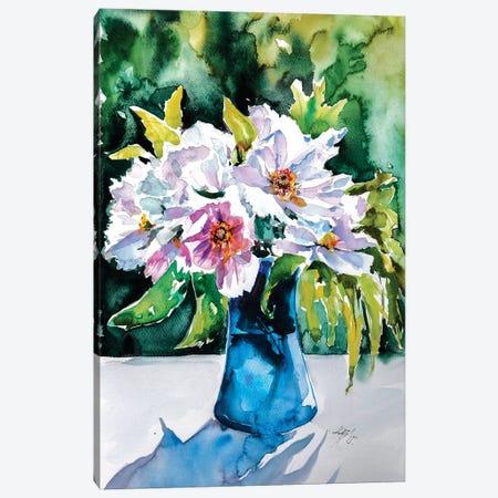 Still Life With Flowers Canvas Print #AKV82} by Anna Brigitta Kovacs Canvas Artwork