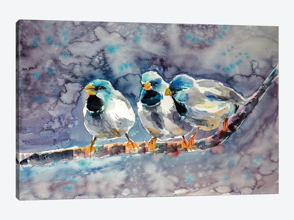 Talking Birds by Anna Brigitta Kovacs 1-piece Canvas Wall Art