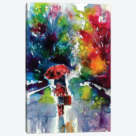 Walk Alone Canvas Print #AKV88} by Anna Brigitta Kovacs Canvas Art