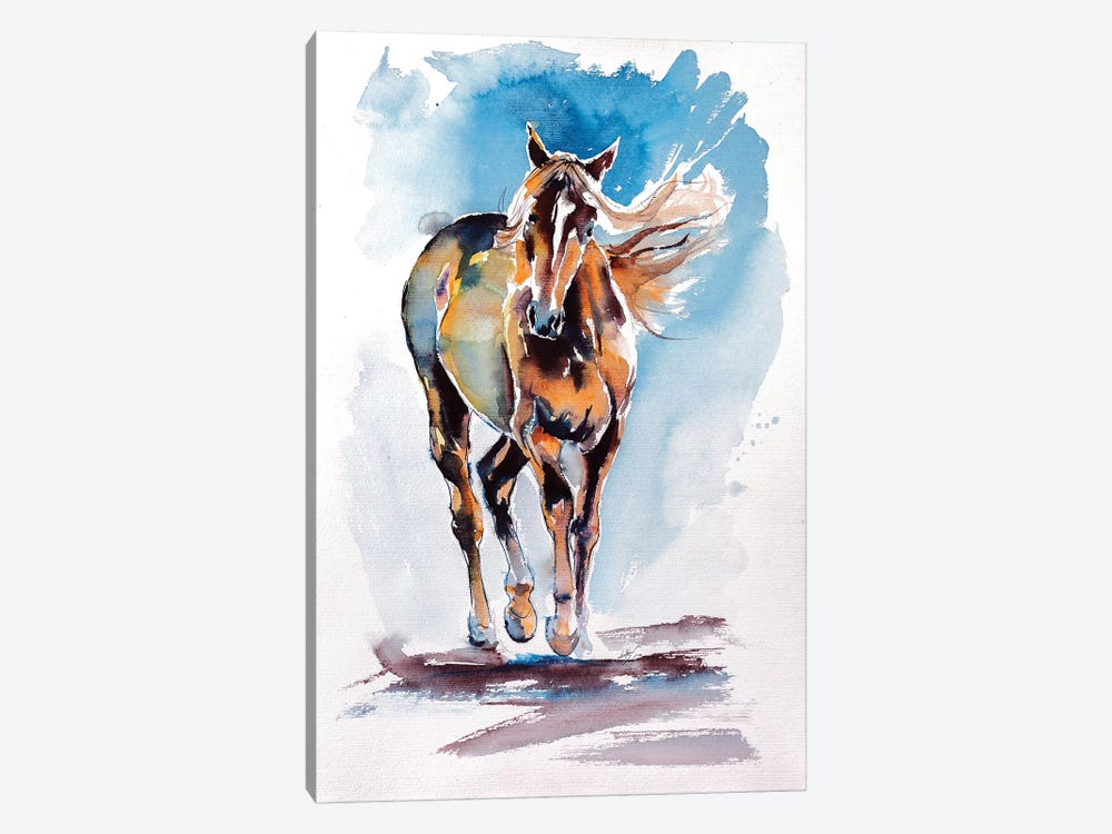 Walking Horse by Anna Brigitta Kovacs 1-piece Canvas Artwork